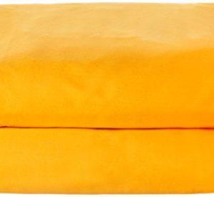 Home Royal - Funda nórdica Lisa de 220 x 260 cm, para Cama de 135 cm, Color Amarillo