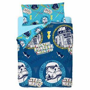 Disney Star Wars Doodle Funda Nórdica de 3 Piezas para Cama 90, Cotton