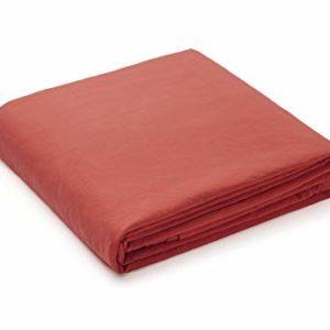L1NK STUDIO Funda nordica Cama 150cm Lisa (240x220cm) 100% algodón (Percal 200 Hilos) Escarlata