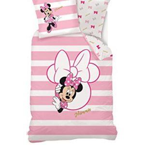 Disney Juego de Ropa de Cama Minnie Mouse, algodón, Rosa, 140x 200cm
