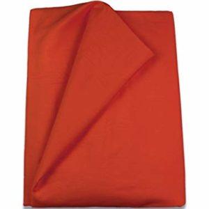 Home Royal - Funda nórdica Lisa de 190 x 260 cm, para Cama de 105 cm, Color Rojo
